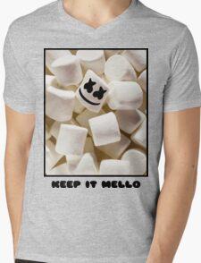 MARSHMELLO KEEP IT MELLO Mens V-Neck T-Shirt