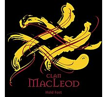 Clan MacLeod - Prefer your gift on Black/White tell us at info@tangledtartan.com  Photographic Print