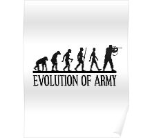 Evolution of army, Funny Human Evolve Poster