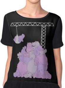 Hippopotapile - the more the merrier! Chiffon Top