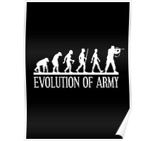 evolution of army Poster