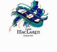 Clan MacLaren - Prefer your gift on Black/White tell us at info@tangledtartan.com  Unisex T-Shirt