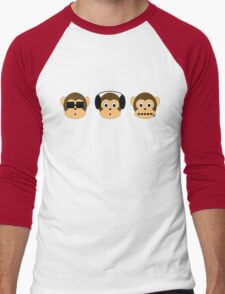 Three Wise Monkeys Men's Baseball ¾ T-Shirt