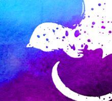 Purple splatter Cheshire Cat Sticker