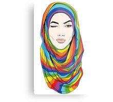 Rainbow Hijab Metal Print