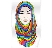 Rainbow Hijab Poster