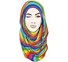 Rainbow Hijab Photographic Print