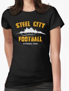 STEEL CITY FOOTBALL Womens Fitted T-Shirt
