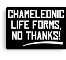 Chameleonic life forms - Dark Canvas Print