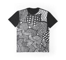Quarter Flower Zentangle Graphic T-Shirt