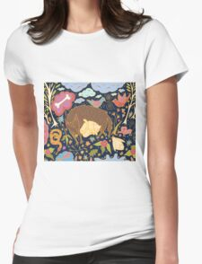 Forest Slumber Womens Fitted T-Shirt