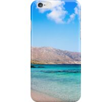 Elafonissi beach, with pinkish white sand and turquoise water, island of Crete, Greece iPhone Case/Skin
