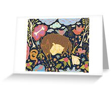 Forest Slumber Greeting Card