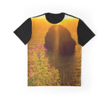virgin rock with wild flowers sunset Graphic T-Shirt