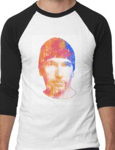 u2 edge paint Men's Baseball ¾ T-Shirt