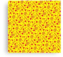 90s pattern Canvas Print