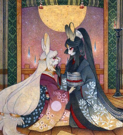 Miri & Akemi - Moon Rabbit Usagi Sticker