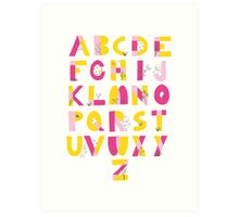 Hide and Seek Alphabet print Art Print
