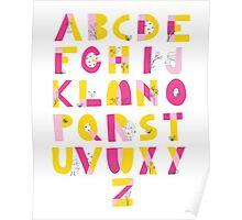 Hide and Seek Alphabet print Poster