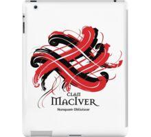 Clan MacIver - Prefer your gift on Black/White tell us at info@tangledtartan.com  iPad Case/Skin