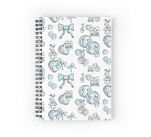 Blue Buttons  Spiral Notebook