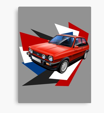 Ford Fiesta XR2 Graphic Art Canvas Print