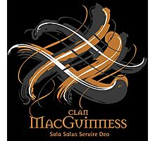 Clan MacGuinness - Prefer your gift on Black/White tell us at info@tangledtartan.com   Photographic Print