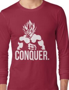 CONQUER - Goku as Mr. Olympia Long Sleeve T-Shirt