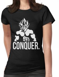 CONQUER - Goku as Mr. Olympia Womens Fitted T-Shirt