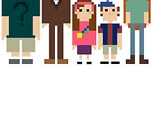 Gravity Falls Pixel by EvelynGonzalez