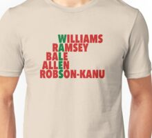 WALES spelt using player names (Euro 2016) Unisex T-Shirt