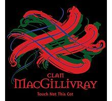 Clan MacGillivray -  Prefer your gift on Black/White tell us at info@tangledtartan.com  Photographic Print