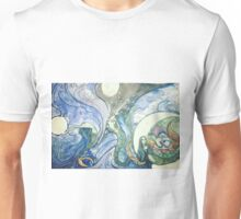 The mermaid and the moon Unisex T-Shirt