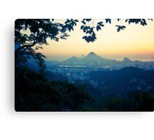 Rio sunrise Canvas Print