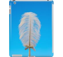 white feather on blue iPad Case/Skin
