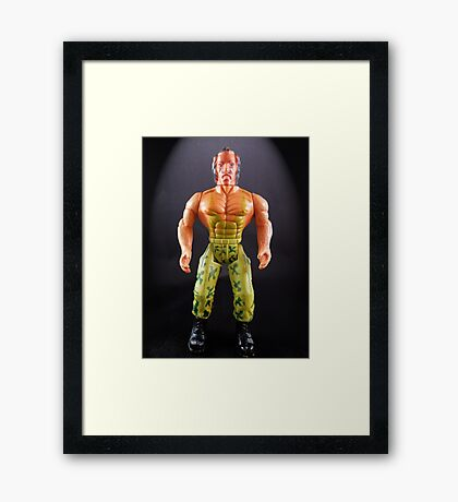 A toy Portrait of an 80's Soldier Framed Print