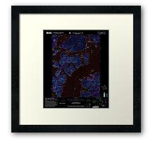 USGS TOPO Map Alaska AK Craig B-5 355274 2000 63360 Inverted Framed Print