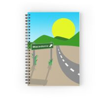 Road to Macedonia Spiral Notebook
