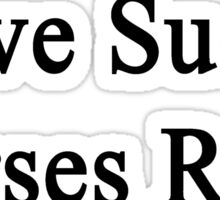 Love Sucks Horses Rock Sticker