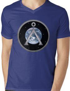Earth Patch Mens V-Neck T-Shirt
