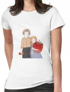 Captain Dipper & The Strawberry Girl Womens Fitted T-Shirt