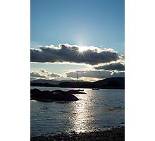 wild atlantic way ireland with a cold sunset Photographic Print