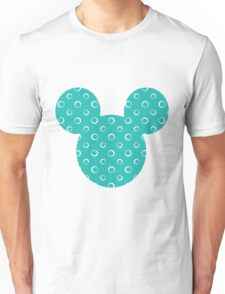 Mouse Turquoise Patterned Silhouette Unisex T-Shirt