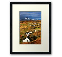 Tarskavaig Crofting Village, Isle of Skye, Scotland. Framed Print