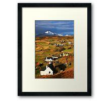 Tarskavaig Crofting Village, Isle of Skye, Scotland. Framed Print
