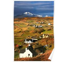 Tarskavaig Crofting Village, Isle of Skye, Scotland. Poster