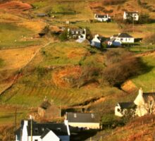 Tarskavaig Crofting Village, Isle of Skye, Scotland. Sticker