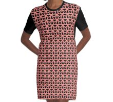 Pattern One in Pink Graphic T-Shirt Dress