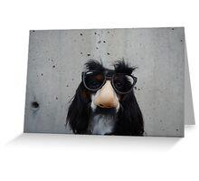 Nosy Dog Greeting Card