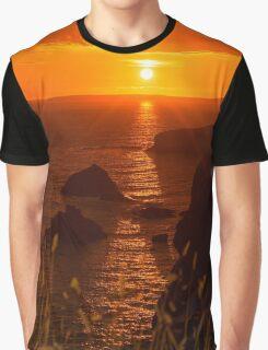 wild atlantic way rocky sunset Graphic T-Shirt
